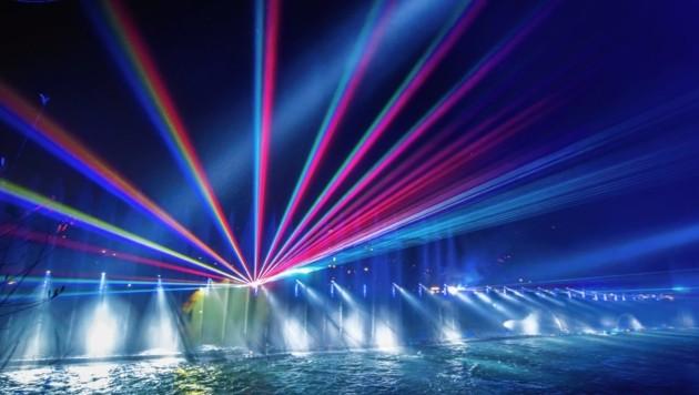 Auch mit Lasershows lassen sich spektakuläre, leise Effekte erzielen