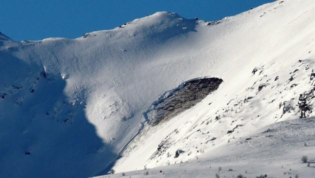 Hier, am Kareck in Muhr, löste sich ein Schneebrett (Bild: Roland Holitzky)