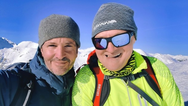 Bergselfie mit dem Villacher Hans Sucher auf dem Mallnock: Dankeschön! (Bild: Wallner Hannes)