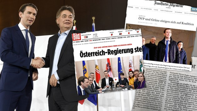 (Bild: APA/HANS KLAUS TECHT, Bild, Frankfurter Allgemeine, krone.at-Grafik)