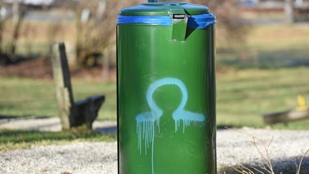Das Omega Zeichen ist das Kennzeichen der Vandalen (Bild: Wolfgang Spitzbart)