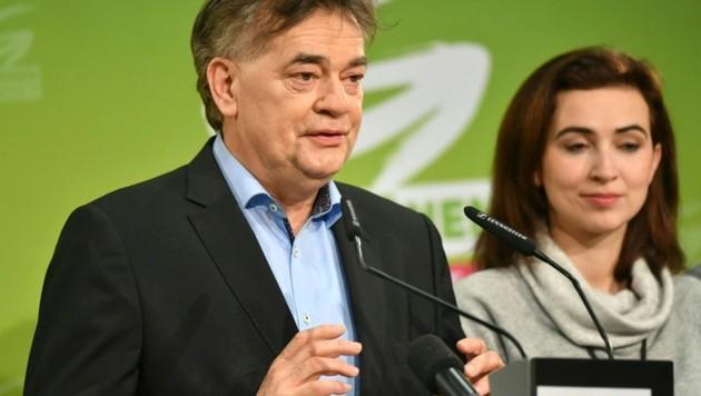 Grünen Bundessprecher Werner Kogler und Alma Zadic (Bild: APA/BARBARA GINDL)