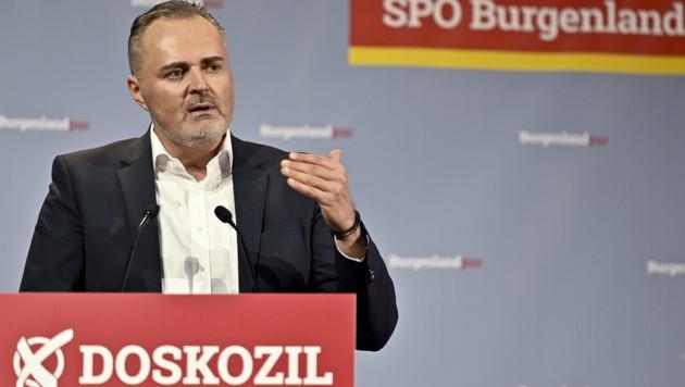 Landeshauptmann Hans Peter Doskozil beim Wahlkampfauftakt der SPÖ Burgenland (Bild: APA/Herbert Neubauer)