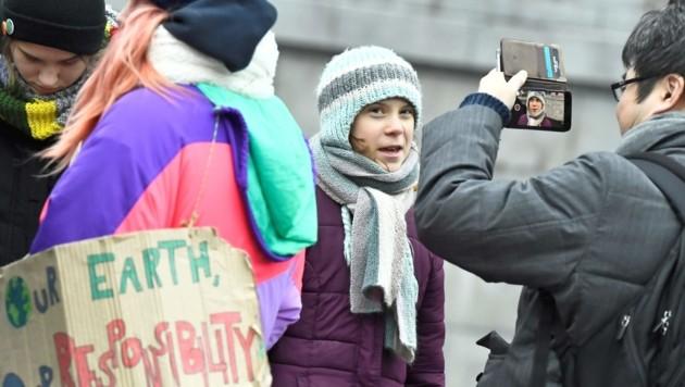 Greta Thunberg protestierte auch an ihrem Geburtstag, der heuer eben auf einen Freitag fiel. (Bild: APA/AFP/TT NEWS AGENCY/Claudio BRESCIANI)