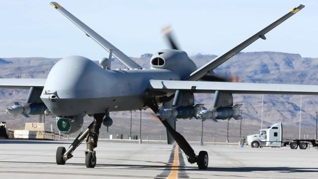 Eine solche Drohne des Typs MQ-9 Reaper feuerte die tödlichen Raketen ab. (Bild: APA/AFP/GETTY IMAGES)
