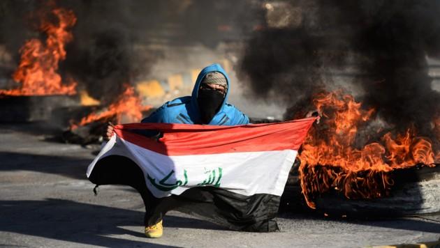 Proteste im Irak gegen die USA (Bild: AFP)