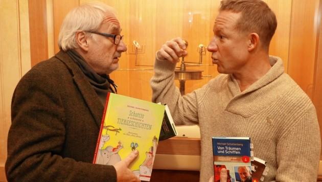 Stefan Weinberger im Gespräch mit Michael Schottenberg (Bild: Zwefo)