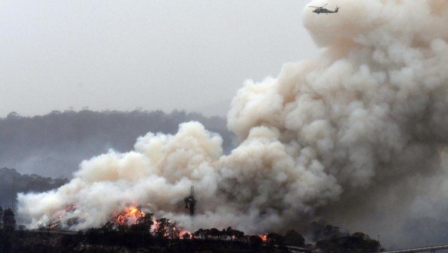 Der Rauch der Buschbrände zieht noch immer um die Welt. (Bild: AFP)