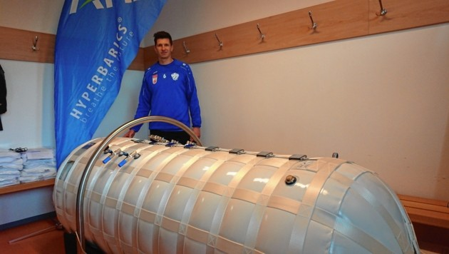 Hartbergs Lienhart und Co. testen derzeit eine neue Sauerstoffkammer. (Bild: Georg Kallinger)