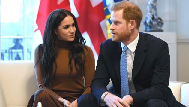 Herzogin Meghan und Prinz Harry im Canada House in London (Bild: AFP)