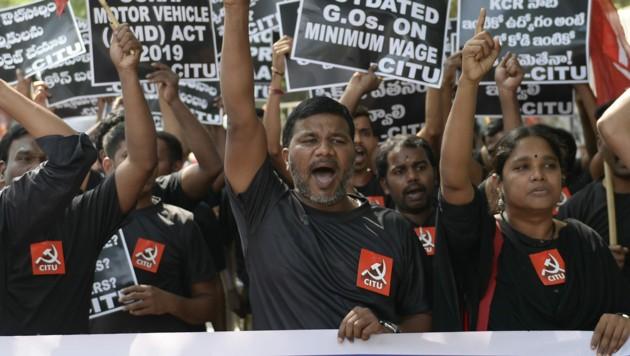 Indien steht still: 250 Millionen streiken