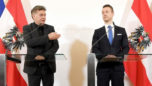Gemeinsam mit Vizekanzler Werner Kogler leitet Gernot Blümel die Regierungskoordination. (Bild: APA/ROLAND SCHLAGER)