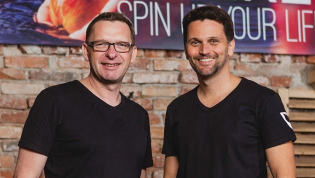 Markus Huber (l.) und Günther Beck starteten nach zwei Jahren Vorlaufzeit mit der Vitaminerei durch. (Bild: Vitaminerei/Afra Hämmerle-Loidl)