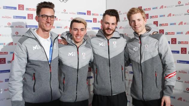 Gregor Schlierenzauer, Stefan Kraft, Manuel Fettner und Michael Hayböck (Bild: GEPA)