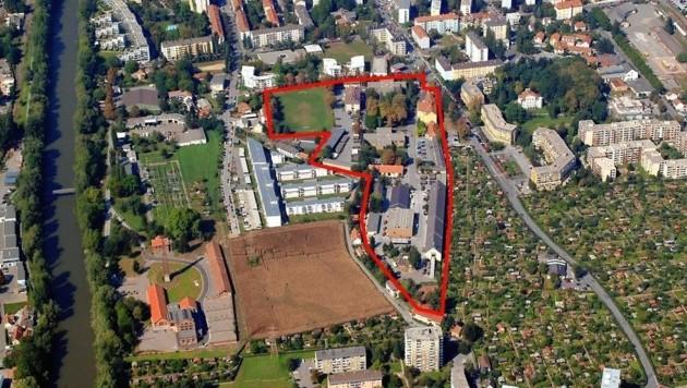 Am Areal der Kirchner Kaserne werden bis zu 550 Wohnungen entstehen. (Bild: Bild ohne Text)