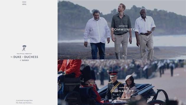 Die Website von Herzogin Meghan und Prinz Harry (Bild: Screenshot sussexroyal.com)