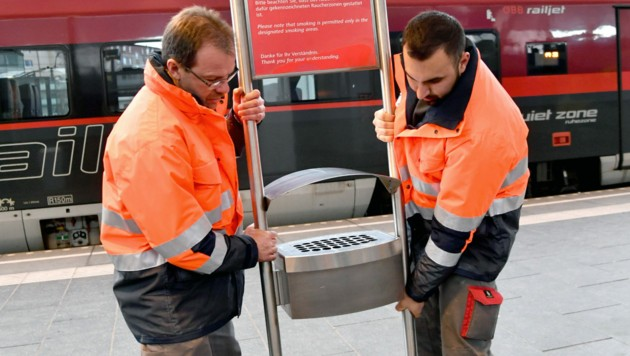 Die österreichischen Bahnhöfe werden rauchfrei. (Bild: APA/BARBARA GINDL)