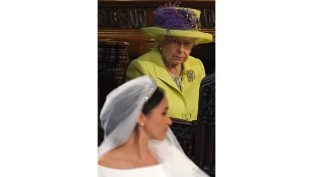 Queen Elizabeth II. bei der Hochzeit ihres Enkels Prinz Harry mit der Schauspielerin Meghan Markle (Bild: AFP and licensors)