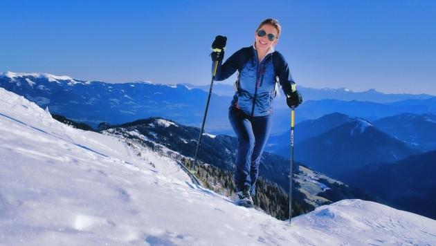 Julia Schaar gefällt das Wandern in der warmen Wintersonne. (Bild: Wallner Hannes)