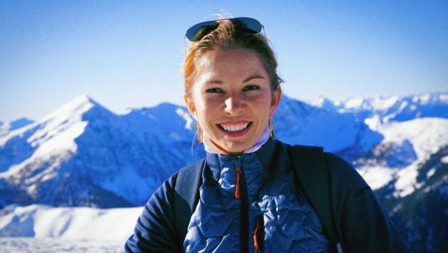 Geschafft. Julia auf dem Berggipfel des Seetalnocks. (Bild: Wallner Hannes)