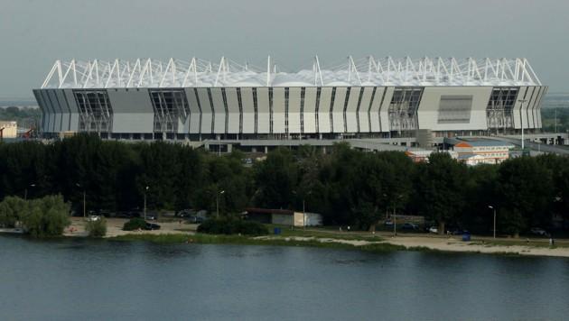Beim Fußball-Stadion in Rostow wurde auf das System der Traunviertler vertraut. (Bild: DIENER/Extra)