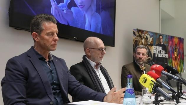 Von links: Wurzenrainer, Mayrhofer und Wanner zogen Bilanz. (Bild: Christian Forcher)