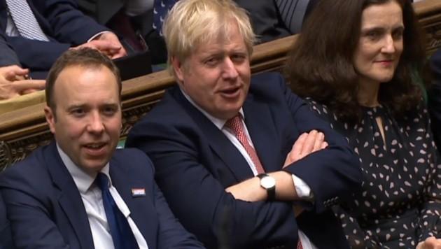 Boris Johnson bei der Abstimmung im britischen Parlament. (Bild: AFP)