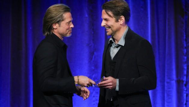 Brad Pitt und Bradley Cooper (Bild: APA/AP)