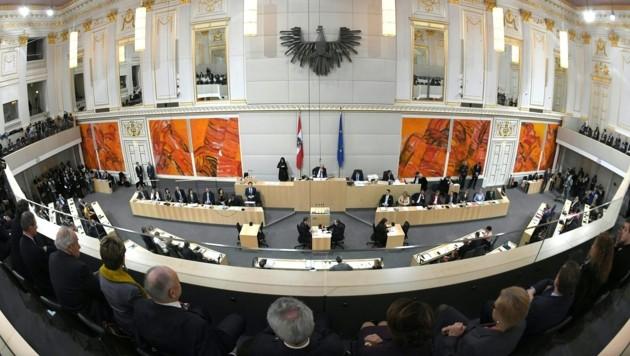 Der Nationalrat (Bild: APA/ROLAND SCHLAGER)