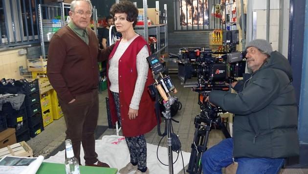 Marion Mitterhammer und Harald Krassnitzer im Visier von Regisseur Hans-Günther Bücking (Bild: Christian Jauschowetz)