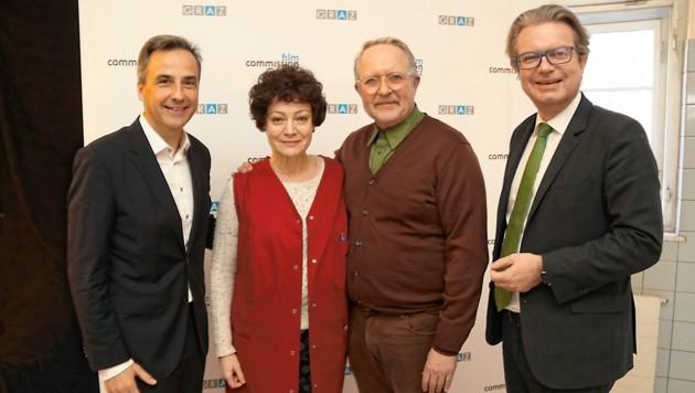 Bürgermeister Siegfried Nagl, Marion Mitterhammer, Harald Krassnitzer, Landesrat Christopher Drexler (Bild: Christian Jauschowetz)