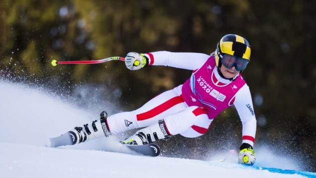 Amanda Salzgeber hofft schon bald wieder auf den Skiern zu stehen. (Bild: EPA)