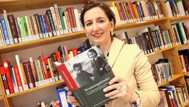 Barbara Stelzl-Marx leitet das Grazer Ludwig Boltzmann Institut für Kriegsfolgenforschung und verfasste unter anderem eine Publikation über Besatzungskinder alliierter Soldaten in Österreich. (Bild: Christian Jauschowetz)