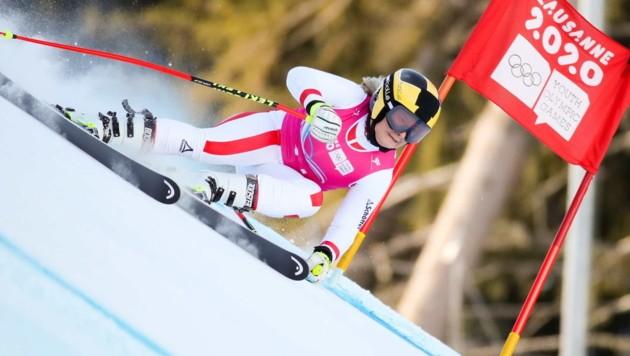 Nach Gold in der Kombi schlug Amanda Salzgeber auch im Riesentorlauf zu und holte sich die nächste Medaille. (Bild: GEPA pictures)