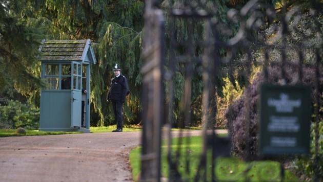 Einfahrt zum Landgut Sandringham (Bild: Dominic Lipinski / PA / picturedesk.com)
