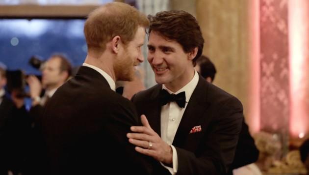 Prinz Harry und Justin Trudeau (Bild: AFP)