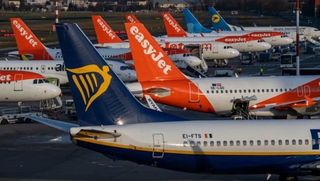 Trotz des großen Preiskampfs mit Billigairlines wie Ryanair oder EasyJet konnte die AUA das Passagieraufkommen im abgelaufenen Jahr 2019 steigern. (Bild: AFP)
