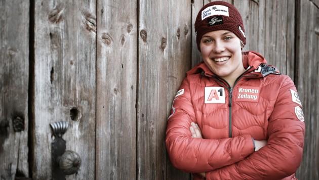 Die Lecherin Magdalena Egger gibt in Flachau ihr Weltcupdebüt. (Bild: ANDREAS TROESTER)