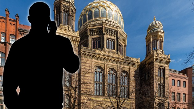 Mehrere Tatverdächtige tschetschenischer Abstammung spähten die Neue Synagoge in Berlin-Mitte aus und fertigten verdächtiges Videomaterial an. (Bild: Wikimedia Commons, stock.adobe.com, krone.at-Grafik)