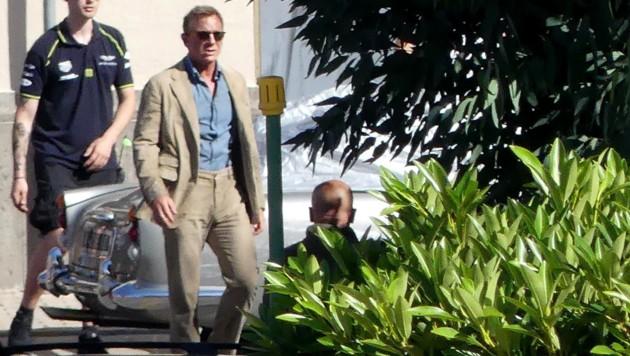 Daniel Craig bei den Bond-Dreharbeiten in Italien (Bild: www.PPS.at)