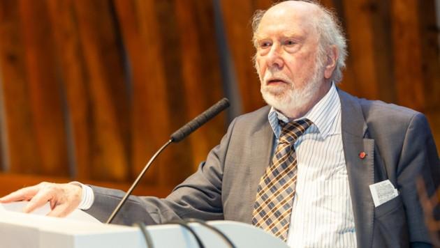 """Niklaus Wirth wurde 1984 mit dem Turing Award ausgezeichnet, sozusagen dem """"Nobelpreis der Informatik"""". (Bild: Barbara Lachner/OCG)"""