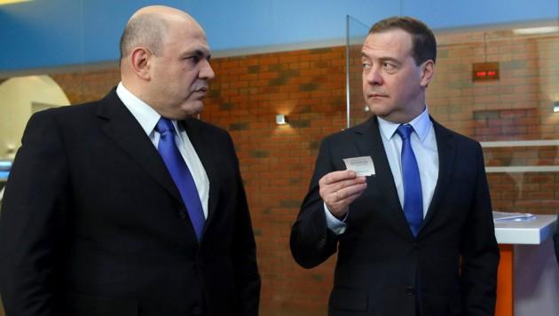 Mischustin folgt Medwedew als Regierungschef. (Bild: AP)