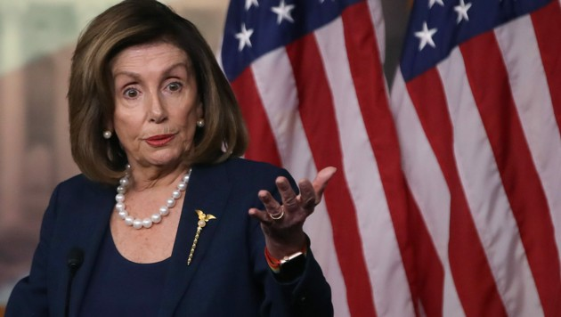 Die Vorsitzende des US-Repräsentantenhauses, Nancy Pelosi (Bild: AFP)