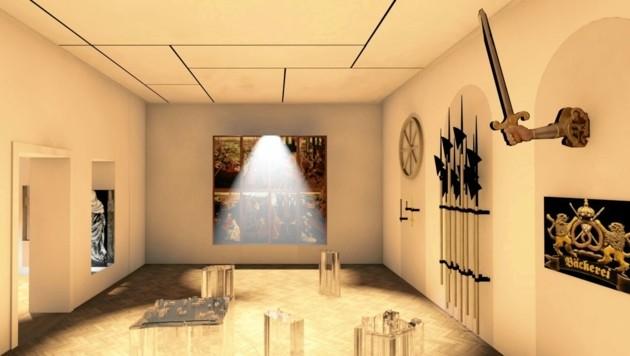 Modern und lichtdurchflutet werden die Objekte künftig präsentiert. (Bild: Landesmuseum)