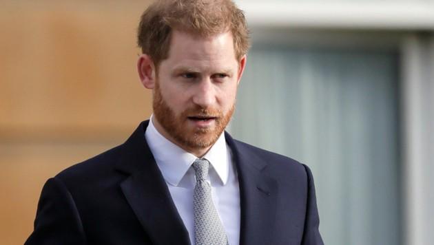 Prinz Harry am 16. Jänner 2020 bei einem Termin im Buckingham-Palast (Bild: Copyright 2020 The Associated Press. All rights reserved)