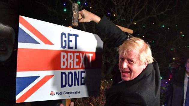 Briten-Premier Boris Johnson erfüllt den Engländern den Austrittswunsch. (Bild: AFP)