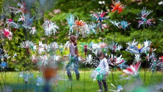 """""""Flowers of Change"""" von Pierre Estève: Vorgeschmack auf Klanglicht Anfang Mai (Bild: Pierre Estève)"""