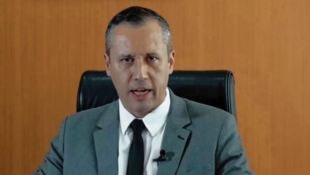 Dieser Auftritt hat Brasiliens Kulturstaatssekretär Roberto Alvim den Job gekostet. (Bild: EPA)