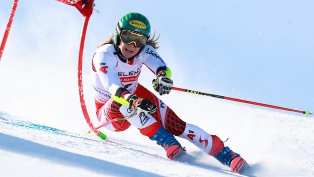 Katharina Liensberger ist aktuell die bestplatzierte Österreicherin im Gesamtweltcup. (Bild: GEPA)