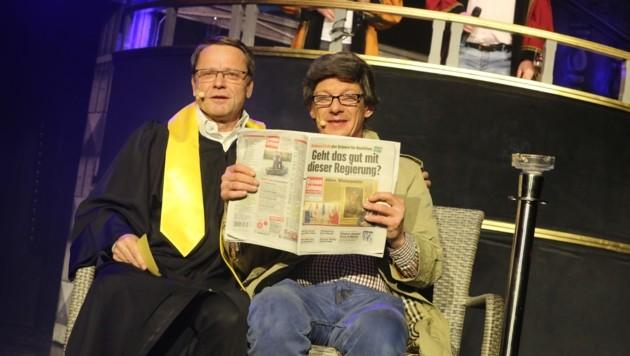 Scharfrichter Harald Janesch und Xandi Lutschounigg. (Bild: Hronek Eveline)